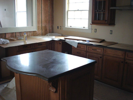 New kitchen cabinets in shotgun house