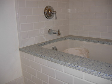bath surround with grout
